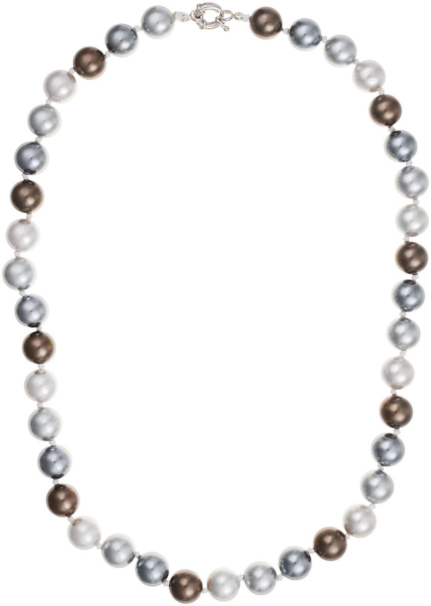 Бусы Art-Silver, цвет: серый, коричневый, длина 55 см. МАЙ41255-678МАЙ41255-678Бусы Art-Silver выполнены из бижутерного сплава и искусственного жемчуга. Изделие оснащено удобной шпренгельной застежкой.