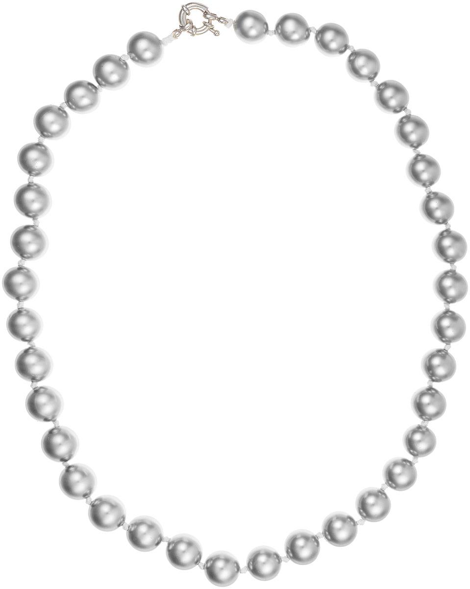Бусы Art-Silver, цвет: серый металлик, длина 50 см. МАЙ31250-594МАЙ31250-594Бусы Art-Silver изготовлены из материала майорка, который схож по свойствам с натуральным жемчугом. Изделие оформлено крупными однотонными бусинами и застегивается на шпренгельный замок из бижутерного сплава..