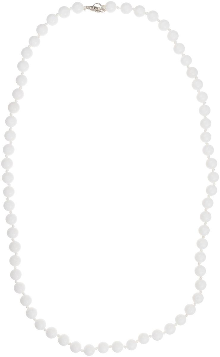 Бусы Art-Silver, цвет: белый, длина 60 см. КХ8-60-297Бусы-ниткаБусы Art-Silver выполнены из белоснежного кахолонга, нанизанного на текстильную нить. Украшение имеет удобный замок-карабин из бижутерного сплава.Бусины диаметром 8 мм из натурального кахолонга, который также называют калмыцким агатом, имеют благородный белый цвет, который превосходно подойдет как к вечерним, так и к повседневным нарядам.
