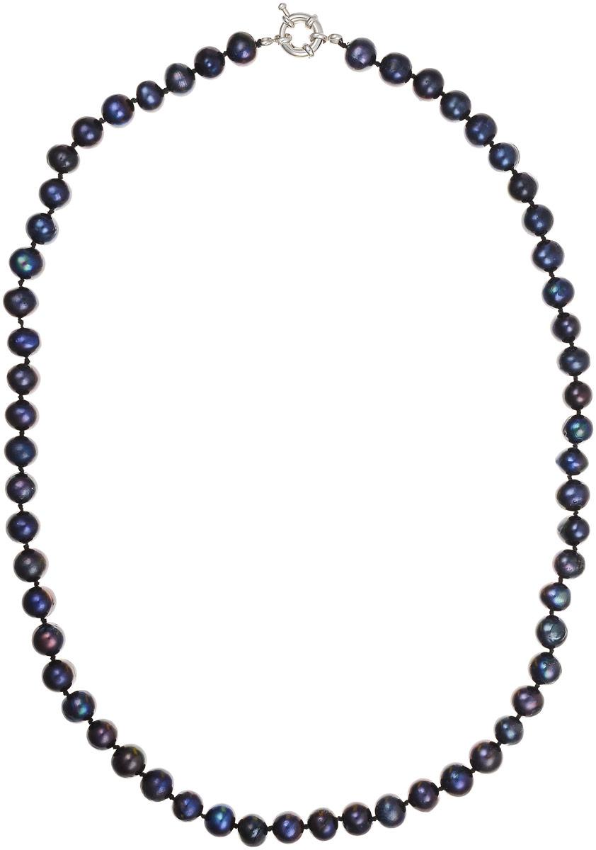 Бусы Art-Silver, цвет: черно-фиолетовый, длина 50 см. КЖ8-9А+50-684Бусы-ниткаБусы Art-Silver выполнены из бижутерного сплава и культивированного жемчуга. Изделие оснащено удобной шпренгельной застежкой.