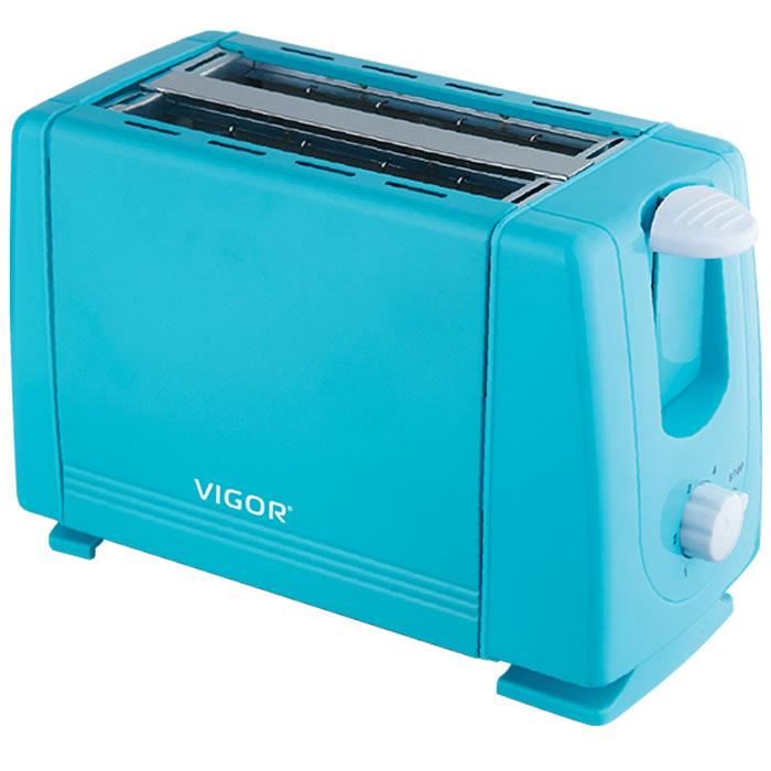 Vigor HX-6016, Blue тостерHX-6016Тостер Vigor HX-6016 представляет собой сочетание удобства и функциональности. Вы можете регулировать степень поджаривания хлеба (доступно 6 режимов) по вашему вкусу. Кнопка отмена поможет вовремя исправить сделанную спросонья ошибку. Ухаживать за тостером легко и приятно благодаря наличию поддона для крошек.