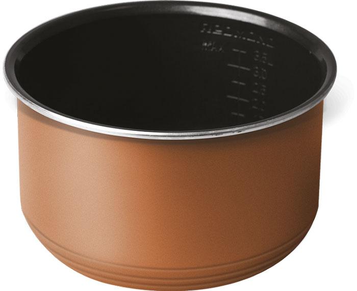 Redmond RB-C530 чаша для мультиваркиRB-C5305-литровая чаша Redmond RB-C530 с высококачественным керамическим антипригарным покрытием отлично подойдет для жарки, выпечки, варки молочных каш. Можно использовать чашу вне мультиварки в качестве посуды для хранения продуктов в холодильнике или для приготовления блюд в духовом шкафу.