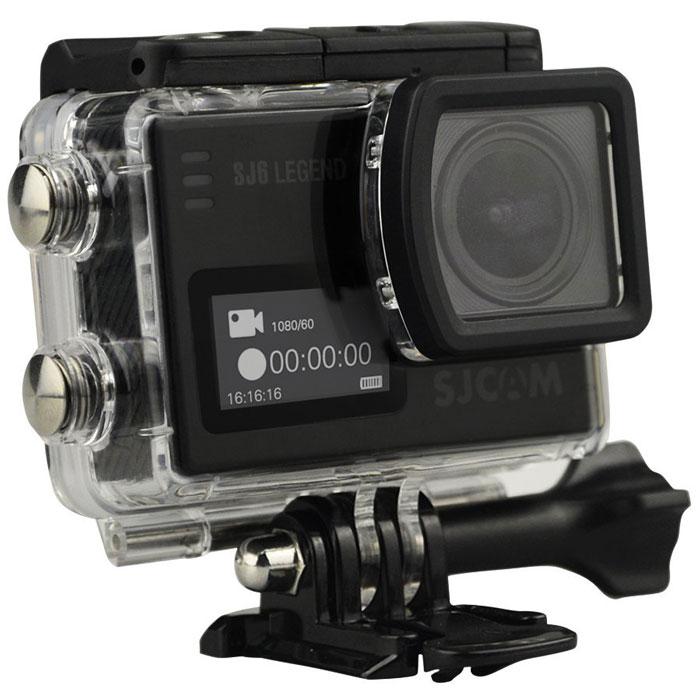 SJCAM SJ6 Legend, Black экшн-камераSJ6LEGEND_BlackSJCAM SJ6 Legend - самая продвинутая модель экшн-камеры от SJCAM. При своих мини-размерах (40 мм х 37 мм х 48 мм) и ультра-легком весе (55 грамм включая батарею) данная камера обладает мощным техническим оснащением и широким функционалом. За съемку фото и видео отвечает новейшая оптика и 16 Мпикс сенсор от Panasonic MN34120PA. Объектив у камеры – широкоугольный (166 градусов) с возможностью изменения угла обзора. Встроенный Gyro- сенсор стабилизирует изображение и полностью устраняет мелкую тряску. Съемка возможна в .mp4 и .mov формате. Фотографии возможны как в формате .raw, так и .jpg. На оборотной стороне расположен сенсорный экран-видоискатель с диагональю 2 дюйма, спереди появился удобный информационный экран размером 0,96 дюйма. Благодаря съемному аквабоксу камера может снимать под водой на глубине до 30 метров. Так же имеется специальный underwater режим для восстановления красного цвета при съемке. На поверхности аквабокс ...