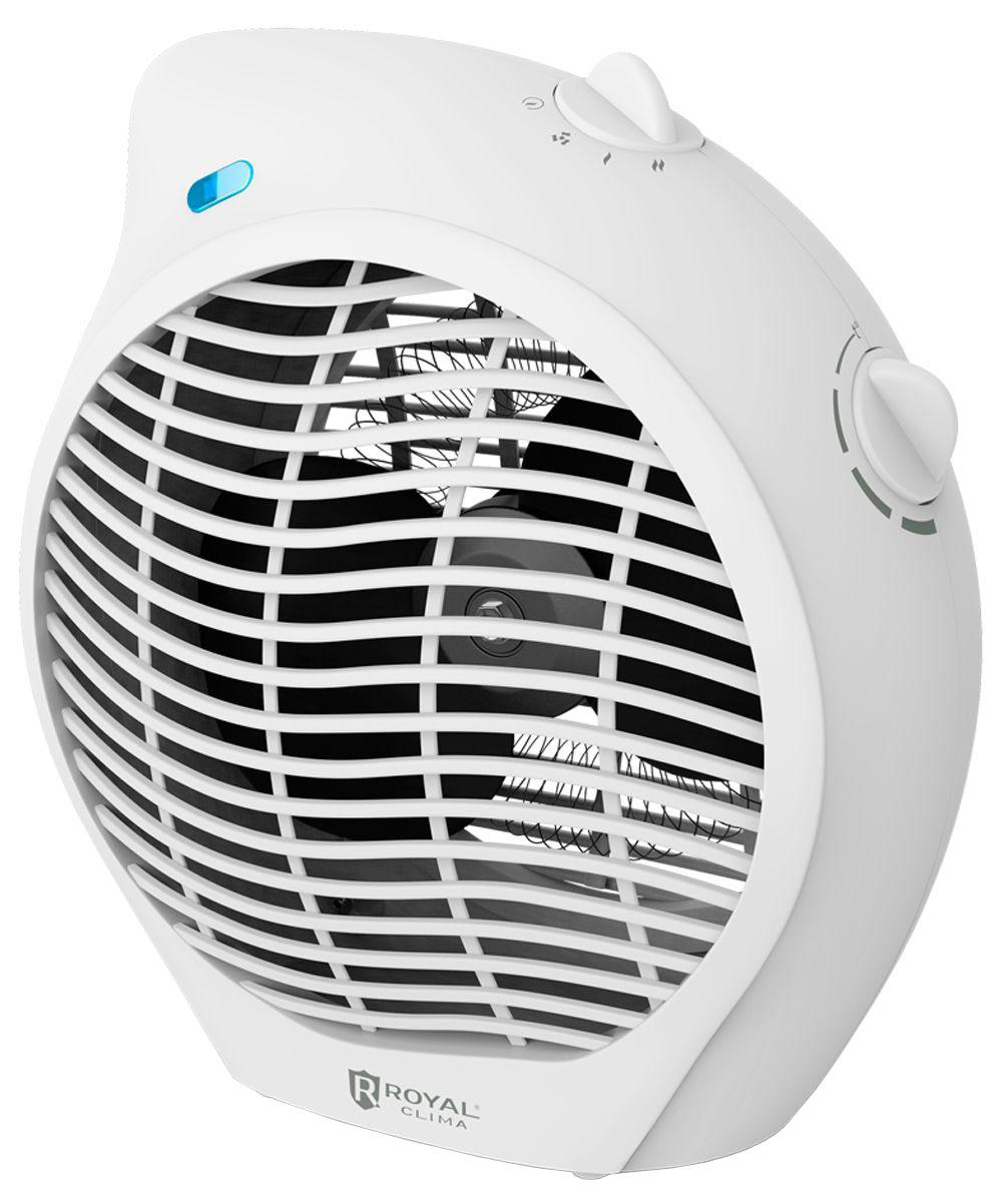 Royal Clima RFH-L2000DS-WT электрический тепловентиляторRFH-L2000DS-WTТепловентилятор Royal Clima RFH-L2000DS-WT - это высокая скорость обогрева благодаря спиральному нагревательному элементу. Royal Clima RFH-L2000DS-WT сочетает в себе 2 функции: вентиляция и 2 режима обогрева воздуха. Безопасность и простота эксплуатации достигается за счет системы безопасного использования Security Project, включающей в себя встроенный предохранитель от перегрева, защиту от опрокидывания и высокий класс электрозащиты. Для удобной установки прибор обладает увеличенной длиной шнура питания 1,3 метра. Спиральный нагревательный элемент обеспечивает быстрый обогрев воздуха в помещении Контроль температуры обогрева. Регулируемый термостат для настройки желаемой температуры нагрева 2 в 1: тёплый и холодный обдув (специальный режим холодного обдува - вентиляции) 2 режима нагрева воздуха: мягкий и интенсивный Класс электрозащиты I