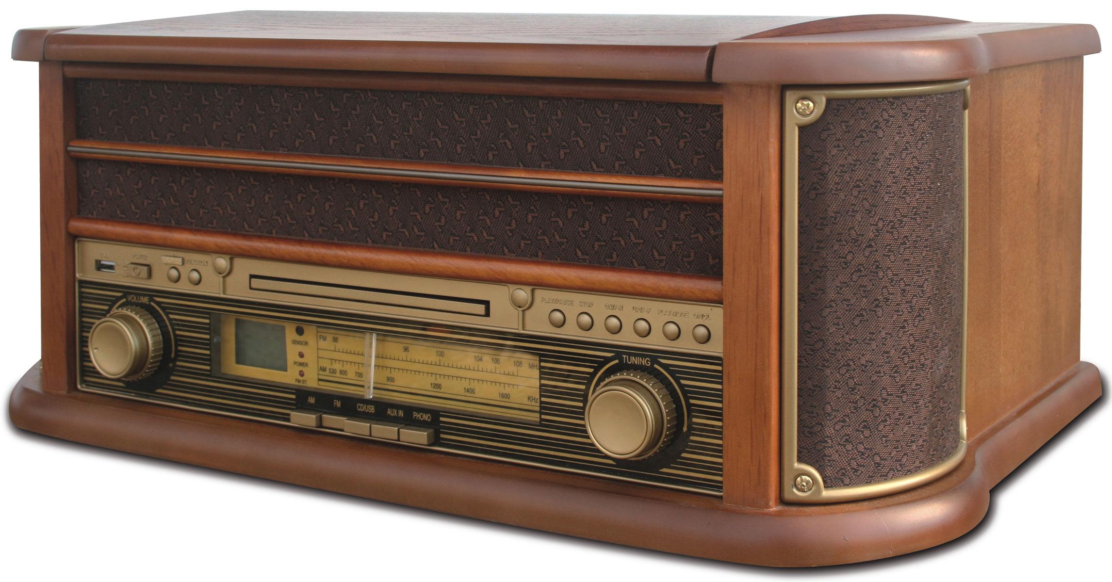 Camry CR1111K проигрыватель виниловых дисковCR1111Оригинальный проигрыватель виниловых пластинок Crosley CR1111K с возможностью прослушивания CD дисков и радиостанций в диапазоне FM/AM. Выполнен в ретро стиле. Три скорости воспроизведения позволяют прослушивать пластинки практически всех типов, а благодаря встроенным стереодинамикам, вы сможете слушать музыку без подключения его к акустической системе. Проигрыватель Crosley CR1111K оснащен USB-портом для флэш-накопителя, который позволяет за считанные минуты преобразовать любую запись с пластинки в MP3- версию. Суммарная мощность колонок: 5 Вт