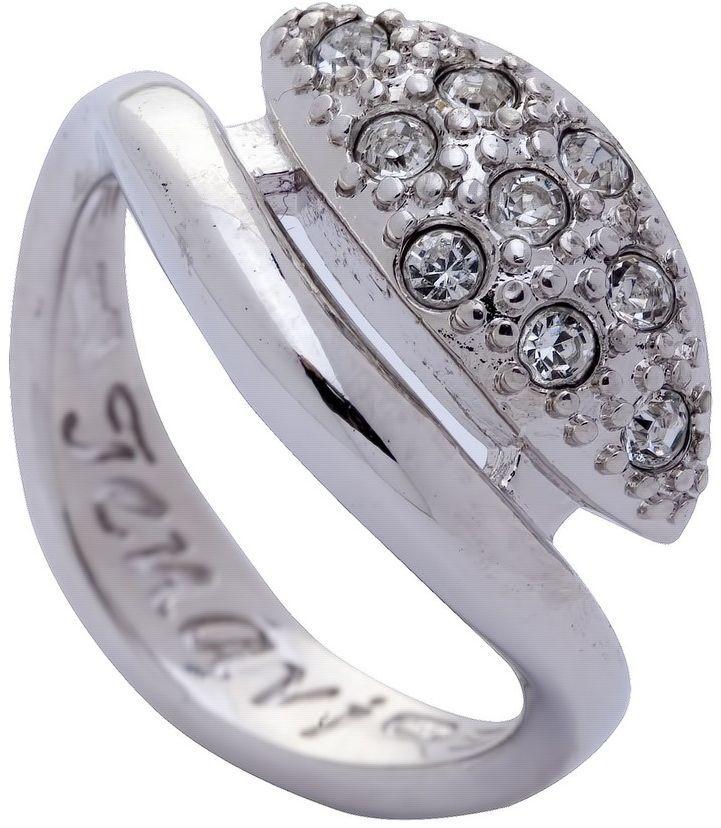 Кольцо Jenavi Озон. Ракин, цвет: серебряный, белый. j958f000. Размер 19j958f000-19Коллекция Озон, Ракин (Кольцо) гипоаллергенный ювелирный сплав, Родирование, вставка Кристаллы Swarovski, цвет - серебряный, белый, размер - 19