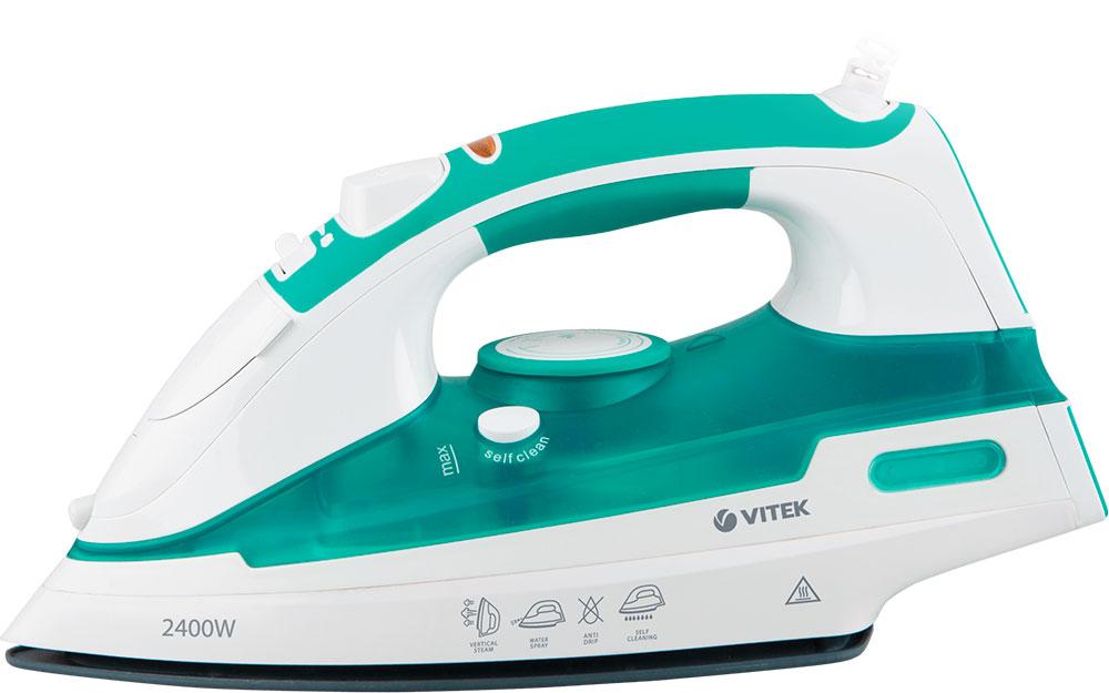 Vitek VT-1250(G) утюгVT-1250(G)С утюгом Vitek VT-1250(G) вы легко, быстро и эффективно разгладите вещи из синтетики, шелка, хлопка и льна. Оперативно привести любимую одежду в порядок вам позволит мощность 2400 Вт и регулировка температуры в зависимости от типа ткани. Теперь вам не страшны даже самые глубокие складки: функция вертикального отпаривания позволит качественно придать безупречный вид одежде, не снимая ее с вешалки. Еще легче работать с тканью вы можете благодаря регулятору постоянной подачи пара и клавише дополнительной подачи пара. А функция разбрызгивания позволит легко увлажнить ткань, которую вы гладите с помощью воды. Легкий уход за утюгом обеспечит режим самоочистки self clean: вам стоит лишь расположить утюг горизонтально над раковиной, нажать и удерживать соответствующую кнопку.