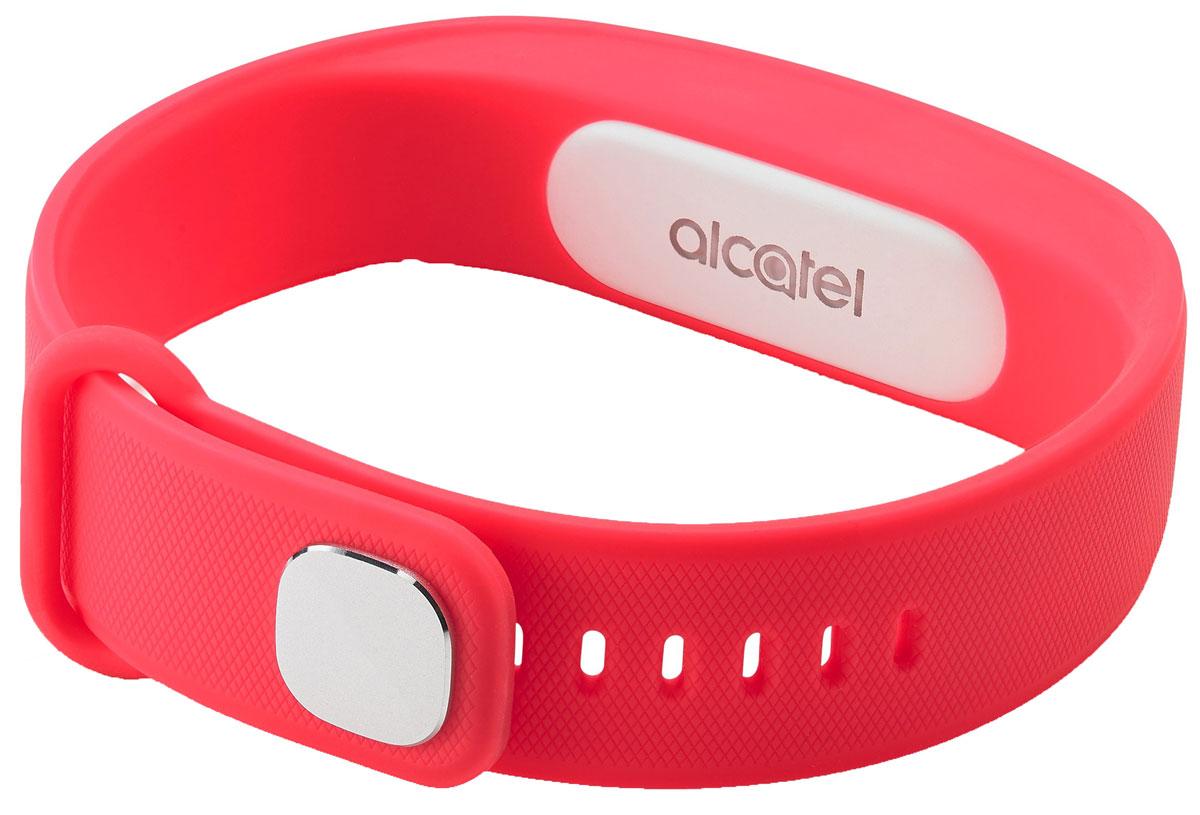 Alcatel MB10, Red White фитнес-браслетALC-MB10-3CALRU1-1Alcatel Move Band - первый фитнес-браслет от компании Alcatel, созданный для тех, кто следит за своим физическим состоянием. Устройство фиксирует не только количество пройденных шагов, сожженных калорий, но и сообщает о качестве вашего сна. У гаджета нет экрана - он способен передать вибрирующий сигнал, который подаст уведомлением на смартфон. Выполненный полностью из силиконового материала, браслет адаптирован к внешней среде - все элементы питания глубоко спрятаны, что удобно для ежедневного использования. Теперь, отправляясь в душ или в бассейн, не обязательно снимать браслет - он защищен по классу IP67, что дает ему устойчивость к воздействию влаги при погружении на глубину до 1 метра. Емкости встроенной батареи хватает на неделю непрерывной работы устройства, а ее подзарядка занимает не более 2 часов.