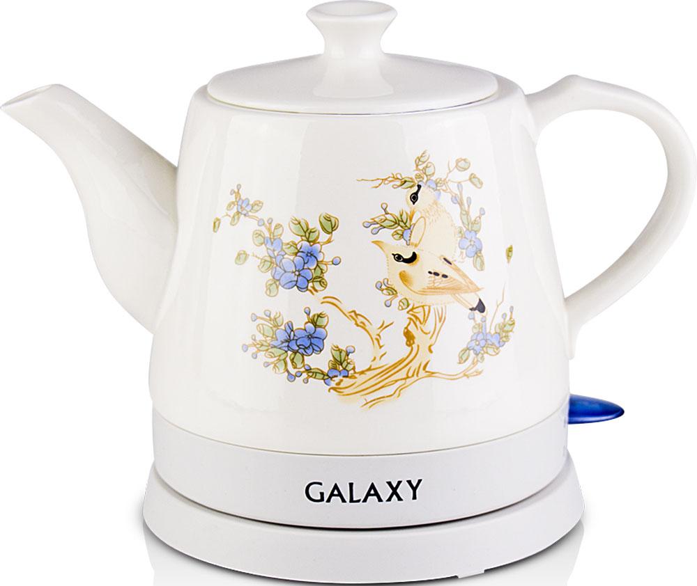 Galaxy GL 0504 электрический чайник4630003369192Керамический чайник Galaxy GL 0504 создает теплую атмосферу на кухне и располагает к душевной беседе за чашкой чая. Благодаря толстым стенкам, чайник работает бесшумно. Керамический чайник Galaxy GL 0504, как и любая посуда из этого материала, долго сохраняет тепло, позволяя значительно сократить энергозатраты. Во время чаепития вы можете разместить керамический чайник Galaxy GL 0504 на столе. В отличие от пластиковых и металлических чайников, керамический чайник вписывается в картину чаепития очень гармонично.