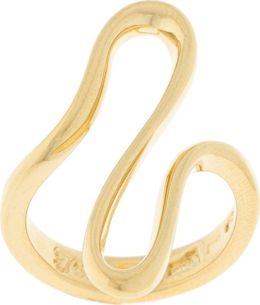 Кольцо Jenavi Этюд. Беюш, цвет: золотой. Размер 19f732p090Коллекция Этюд, Беюш (Кольцо) гипоаллергенный ювелирный сплав,Позолота, вставка без вставок, цвет - золотой, , размер - 19