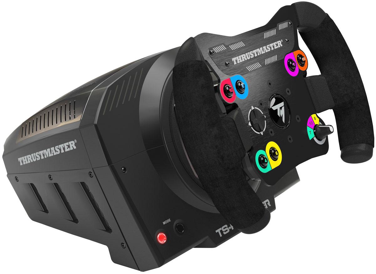 Thrustmaster TS-PC Racer игровой рульTHR61Чтотакое новый TS-PC Racer?TS-PC-Racer это новейший гоночный симулятор для ПК отThrustmaster.Он точно передает отдачу машины и условия гоночного трека.TS-PC Racer это высокотехнологичный устройство для более захватывающей игры. Все ощущениянаиболее приближены к реальности, что дает возможность полного погружения в гонку.Дизайн устройства продуман до мелочей, а высококачественные материалы внимательно отобраны, чтобы игровой процесс был наиболее приятным.Основные цели для нового гоночного руля TS-PC Racer:дать возможность сообществу ПК использовать данное устройствопредоставить высокую точность и комфорт требовательным игрокам на ПКобеспечить полное погружение в гонкусохранять реальные ощущения от руля даже после нескольких часов игрыобеспечивать непревзойденную точность TS-PC Racer: высокотехнологичныйруль отThrustmasterБесщеточный мотор TS-PC Racer обеспечивает мощную отдачу(40 ватт) и удивительную скорость (динамический контроль): от долгих затянутых поворотов (режим STALL)до супер- динамичных зигзагов (режим (DYNAMIC). Встроенная система охлаждения мотора (патент заявлен): поддерживает динамику нового мотора, предотвращая перегревание без шума. На 50% больше динамики, в 4 раза мощнее силаимитации заклинивания, отвод тепла через монофазовое охлаждение. Field Oriented Control (Управление с учетом полевых испытаний): благодаря технологии H.E.A.R.T (HallEffect AccuRate technology) дает возможность 16-битного разрешения (65,536 значений), в то время как новый алгоритм F.O.C. динамически оптимизирует крутящее усилие на виртуальной рулевой колонке.Внешний Турбо двигатель для обеспечения постоянной энергией и огромной пиковой мощностью для мгновенного реагирования на сверхбыстрые вызовы игры. Тороидальная форма с обтекаемым дизайномобеспечивает на86%более эффективнуюборьбу с перегреванием. Пиковая мощность 400 Вт .