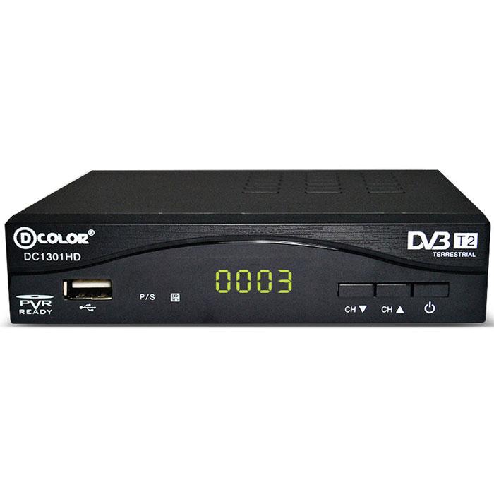 D-Color DC1301HD DVB-T2 цифровой ТВ-тюнер6907325813015Цифровой ТВ-тюнер D-Color DC1301HD отвечает всем самым современным требованиям к цифровым ресиверам. Новейшее ПО и качественные комплектующие позволяют передавать четкую, яркую, сочную картинку даже в самых отдаленных регионах России. Процессор: MStar 7T01 со встроенным демодулятором Тюнер: Maxliner 608 Тип корпуса: металлический Диапазон принимаемых частот: 174-862 MГц.