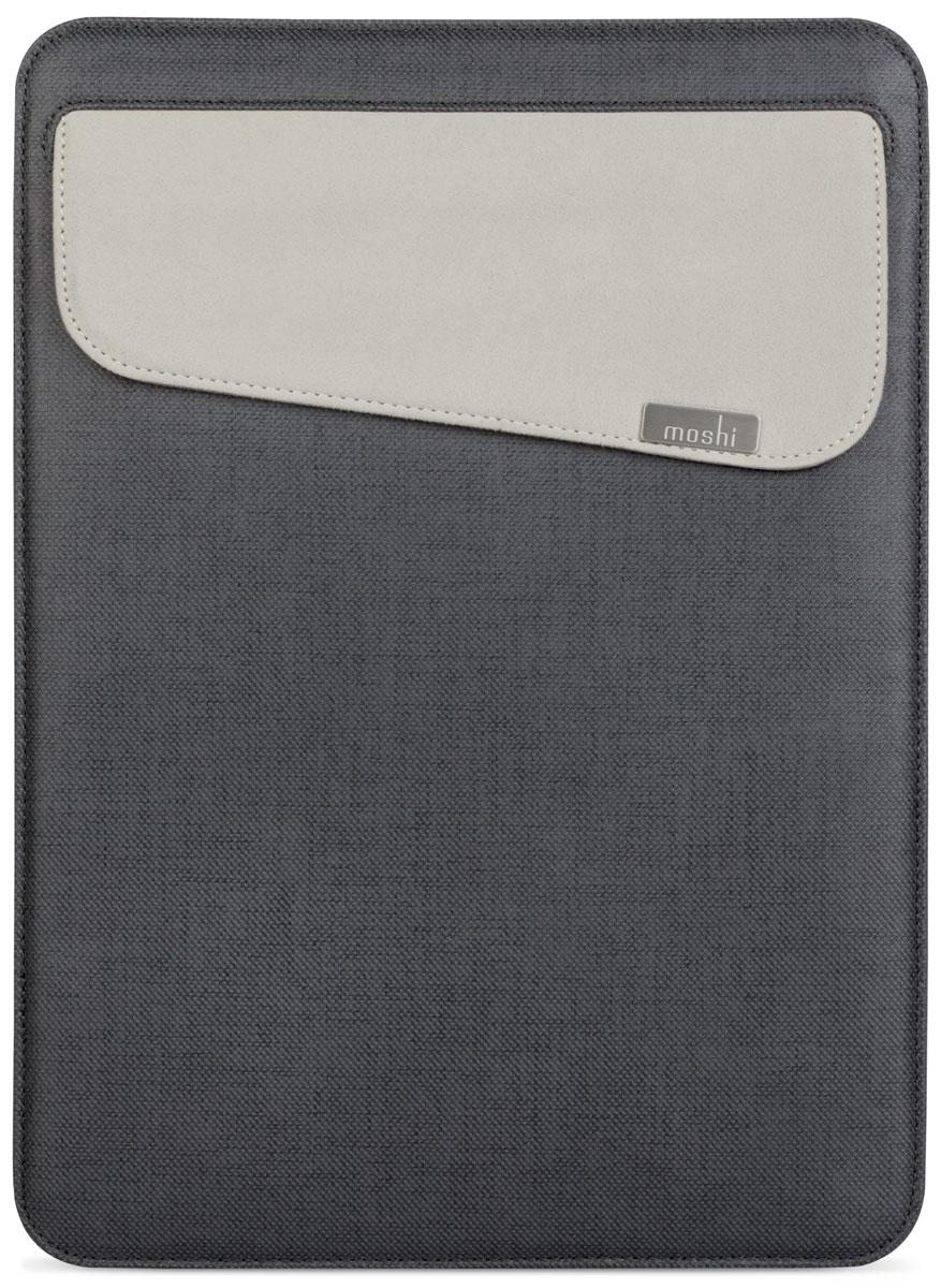 Moshi Muse Slim Fit Carrying Case чехол для Apple MacBook 13, Graphite Black99MO034004Moshi Muse Slim Fit Carrying Case - чехол, специально созданный для вашего MacBook 13. Это идеальный аксессуар для динамичного образа жизни. Отсутствие молнии позволяет убирать и доставать ваш MacBook, не царапая корпус. Прочная и приятная на ощупь внешняя отделка защищает от мелких царапин и ударов, а мягкое внутреннее покрытие из микрофибры Terahedron удаляет отпечатки пальцев, слегка прижимая ваше устройство. Moshi Muse Slim Fit оснащена системой открытия SlipGrip, которая действует как предохранитель, чтобы предотвратить от случайного падения ваш MacBook, даже когда он перевернут. Данная модель также включает в себя внешний карман для удобного хранения адаптеров и кабелей.
