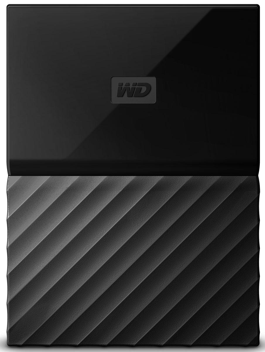 WD My Passport 1TB, Black внешний жесткий диск (WDBBEX0010BBK-EEUE)