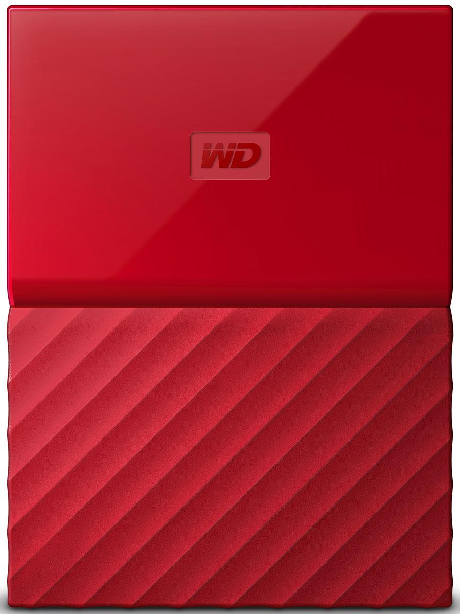 WD My Passport 1TB, Red внешний жесткий диск (WDBBEX0010BRD-EEUE)