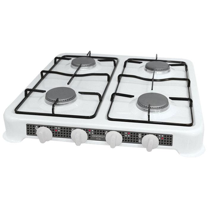 Energy EN-004, White настольная плита54 144029Energy EN-004 - компактная настольная плита, которая работает на сжиженном нефтяном газе. 4 конфорки позволят вам приготовить еду для всей семьи. Благодаря своим габаритам, данная модель отлично подойдет для небольшой кухни на даче. Она изготовлена из качественных материалов и прослужит вам долгое время. Давление газа: 2800 Pa Мощность: 4 x 3200 Вт