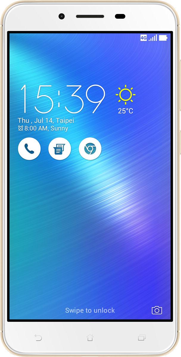 ASUS ZenFone 3 Max ZC553KL, Gold (90AX00D1-M00270)90AX00D1-M00270Вы живете активной жизнью, а ваш смартфон к середине дня уже разряжен? Тогда вам нужен новый ZenFone 3 Max. Аккумулятор емкостью 4100 мАч позволит пользоваться этим смартфоном с раннего утра до поздней ночи. Работайте продуктивнее, и развлекайтесь ярче – ZenFone 3 Max поможет вам жить еще активнее!С новым 5,5-дюймовым ZenFone 3 Max вам больше не придется беспокоиться о том, что смартфон разрядится в самый неподходящий момент, ведь благодаря большой емкости аккумулятора (4100 мАч), ZenFone 3 Max может работать до 33 дней в режиме ожидания. Чем больше емкость аккумулятора, тем больше пользы от смартфона, ведь каждый хочет получить максимум от своего мобильного устройства, не прибегая к подзарядке: пролистать больше веб-сайтов, просмотреть больше видеороликов и пообщаться с большим числом друзей, чем при использовании обычных смартфонов.Емкость аккумулятора ZenFone 3 Max составляет целых 4100 мАч, поэтому вы с легкостью сможете использовать смартфон в качестве мобильного зарядного устройства для других гаджетов.Емкости аккумулятора в современном смартфоне никогда не бывает много. Именно поэтому инженеры компании Asus разработали две специальных энергосберегающих технологии, позволяющие продлить время автономной работы ZenFone 3 Max. Даже если уровень заряда аккумулятора упадет до 10%, вы сможете увеличить время работы смартфона в режиме ожидания на дополнительные 30 часов, просто активировав функцию суперэкономии.ZenFone 3 Max сочетает в себе все самое лучшее: дисплей, покрытый защитным стеклом с закругленными краями, эргономичный корпус с изогнутой задней панелью, стильные цвета. Это шедевр современного дизайна и инновационных технологий, который не захочется выпускать из рук.Расположенный на задней панели сканер отпечатка пальца служит не только для моментальной разблокировки смартфона, но и поддерживает несколько других полезных функций. Например, проведя по нему сверху вниз, вы активируете фронтальную