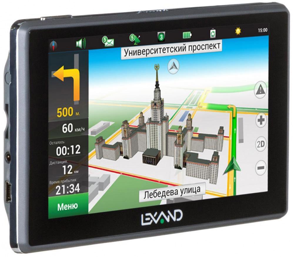 Lexand SA5 HD, Grey навигаторSA5 HDLexand SA5 HD - классический GPS навигатор на Windows СЕ 6.0 с сенсорным 5-ти дюймовым экраном HD-раз решения, мощным процессором и расширенной картографией Навител (9 стран) с бессрочной лицензией и бесплатным обновлением. Предусмотрена возможность подключения внешних 3G USB модемов для выхода в Интернет и построения маршрутов с учетом пробок.