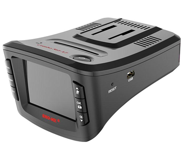 Sho-Me Combo №5 A7, Black видеорегистратор с радар-детекторомCOMBO №5-А7Видеорегистратор с антирадаром Sho-Me Combo №5 A7 - это уникальная комбинация самых важных для автомобилиста функций - запись происходящего на видео в высоком качестве (Full HD) и оповещение о сигналах полицейских радаров, принятых антенной и/или определяемых с помощью GPS. Благодаря своим компактным размерам, комбо-видеорегистратор Sho-Me Combo №5 A7 будет гармонично смотреться в салоне любого автомобиля, при этом не препятствуя обзору водителя. Камера видеорегистратора с широким углом обзора 140° захватывает соседние и встречные полосы движения, номера движущихся вокруг Вас автомобилей, а также сигналы светофора. Такой круг обзора позволит разрешить сложные спорные ситуации и предоставит видео отличного качества с места событий. Яркий дисплей диагональю 2 с высоким разрешением позволит вам с комфортом просматривать отснятые видеоролике на самом видеорегистраторе, разглядеть все детали или c удобством управлять настройкой...
