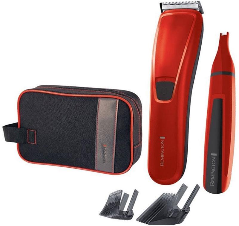 Remington HC 5302, Red набор для стрижки волосHC 5302Remington HC 5302 - подарочный набор ограниченного выпуска, который содержит все необходимое для ухода за волосами и для стрижки. В состав набора входит эффективная машинка для стрижки волос PrecisionCut, триммер для зон носа и ушей и дорожная косметичка.Поддерживайте свой стиль или создавайте новую стрижку с помощью выбора из 17 настроек длины (0,5 - 44мм). Инженеры компании разработали особые лезвия AccuAngle, которые расположены под углом 42 градуса, имеют особую геометрию, что гарантируют точность стрижки каждый раз.* Лезвия имеют пять уровней штамповки, что прямым образом сказывается на их точности для самой чистой стрижки.Линейный триммер для зон носа и ушей, с лезвиями из нержавеющей стали, позволит избавиться от нежелательных волос на лице или скорректировать их и имеет моющуюся головку для удобства ухода.Дорожная косметичка будет удобной для хранения приборов и других косметических мелочей.Полная зарядка за 14-16 часовПитание триммера: 1 x AA (не входит в комплект)