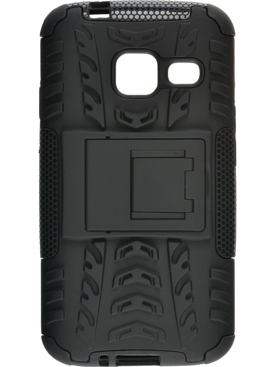 Skinbox Defender Case чехол для Samsung Galaxy J1 mini (2016), Black2000000092270Чехол-накладка Skinbox Defender Case для Samsung Galaxy J1 mini (2016) бережно и надежно защитит ваш смартфон от пыли, грязи, царапин и других повреждений. Выполнена из высококачественного поликарбоната, плотно прилегает и не скользит в руках. Чехол-накладка оставляет свободным доступ ко всем разъемам и кнопкам устройства.
