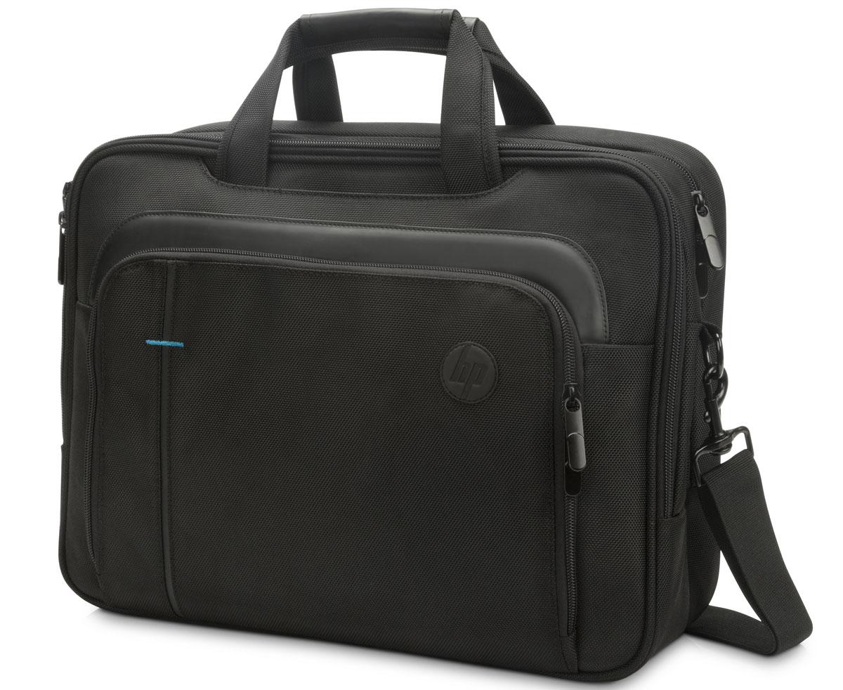 HP SMB Topload сумка для ноутбука 15.6, Black (T0F83AA)1000400477Защитите ноутбук в дороге! Практичная и стильная сумка HP SMB Topload, открывающаяся сверху, снабжена мягким отсеком для ноутбука, которая помогает защитить устройство от грязи, царапин и толчков. Зачем перегружать себя? Сумка с превосходным дизайном снабжена регулируемым мягким плечевым ремнем, удобным и снижающим нагрузку при движении.