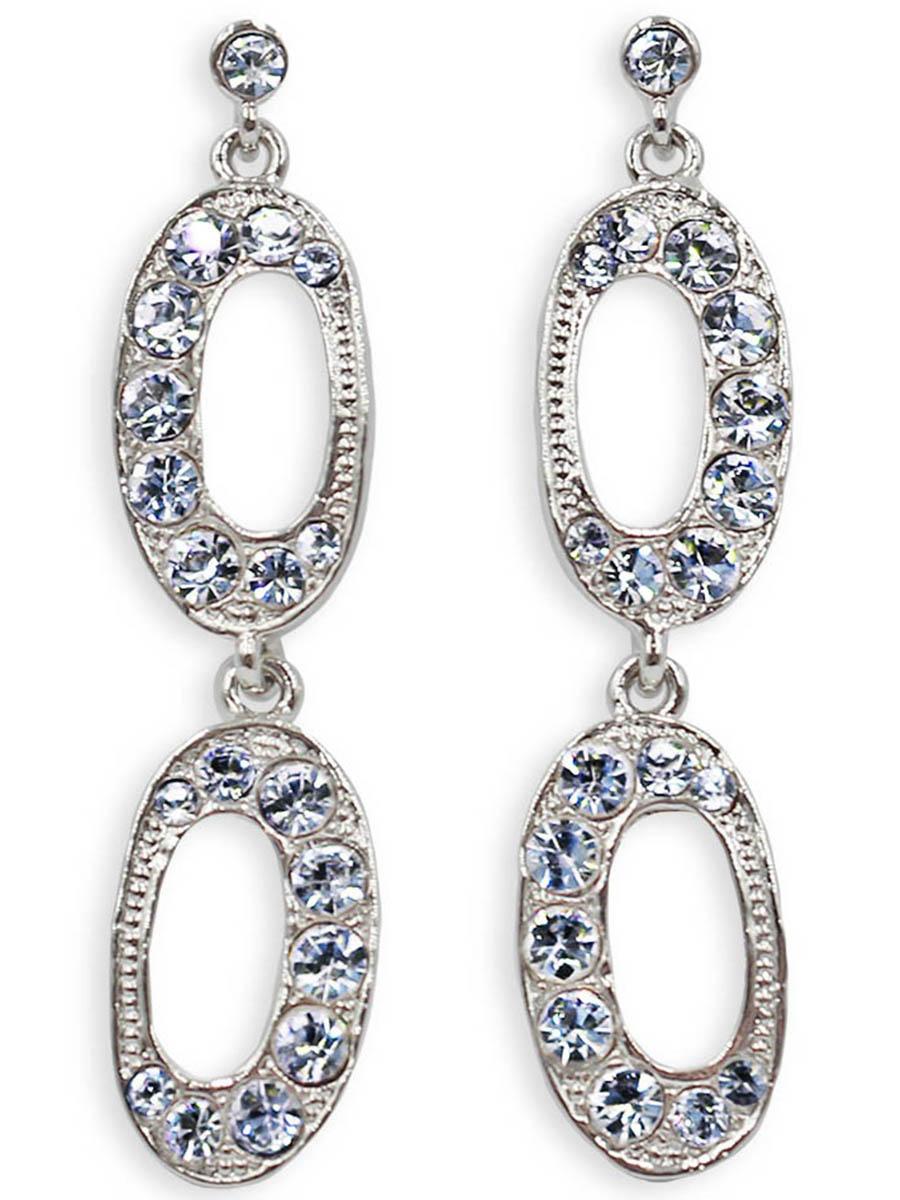 Серьги Taya, цвет: серебристый. T-B-12345T-B-12345-EARR-SILVERСерьги-гвоздики с заглушкой металл-пластик изготовлены из бижутерного сплава. Серьги словно собраны из кристаллов. Изделие состоит из двух блестящих колец, соединенных между собой.
