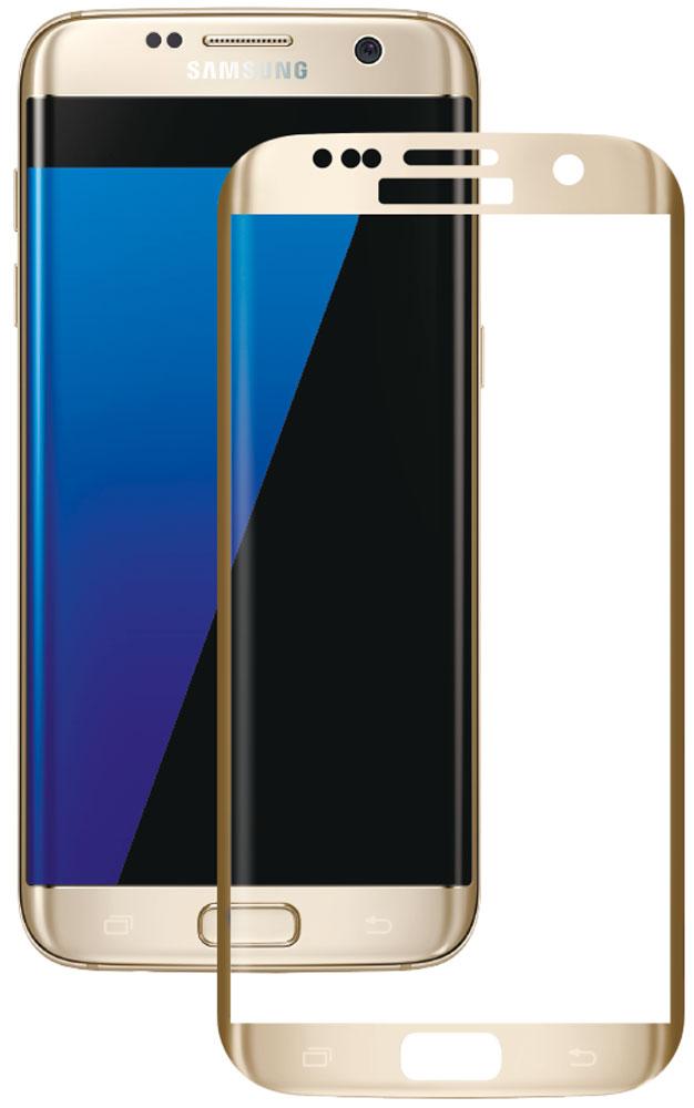 Deppa защитное стекло для Samsung Galaxy S7 Edge, Gold (3D)62004Защитное 3D-стекло Deppa полностью повторяет форму дисплея Samsung Galaxy S7 Edge, обеспечивая его 100% покрытие. Скругленный край защищает боковые грани устройства, приятен на ощупь, создает ощущение целостности экрана. Стекло обладает всеми необходимыми свойствами для максимальной защиты экрана вашего устройства. Цвета 3D-стекла представлены в лаконичном стиле Samsung.