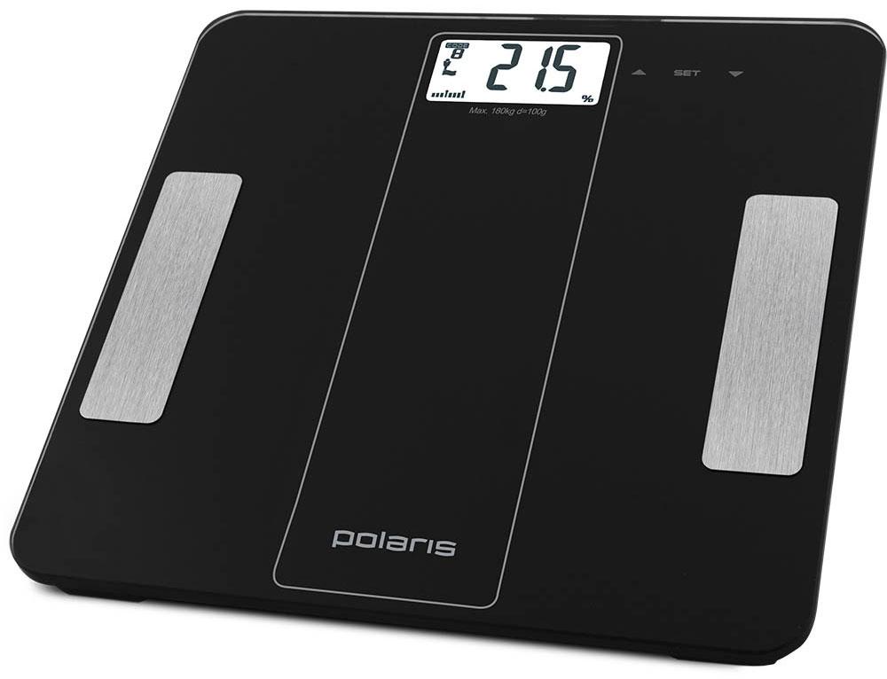 Polaris PWS 1860DGF напольные весы7950Polaris PWS 1860DGF - напольные весы, выполненные в стильном дизайне. Одновременно с этим вас удивит и функциональность данного устройства: теперь вы легко сможете контролировать свой вес, процентное содержания жировой, мышечной, костной массы и воды в организме, а значит, вести здоровый образ жизни. Для вашего удобства в весах предусмотрена возможность с высокой точностью определять массу тела в килограммах и фунтах. Оснащены калькулятором дневной нормы потребления калорий. Максимально допустимый вес - 180 кг. Все данные отобразятся на удобном жидкокристаллическом дисплее. Для того, чтобы сохранить заряд батареи в весах используется функция автоматического отключения.