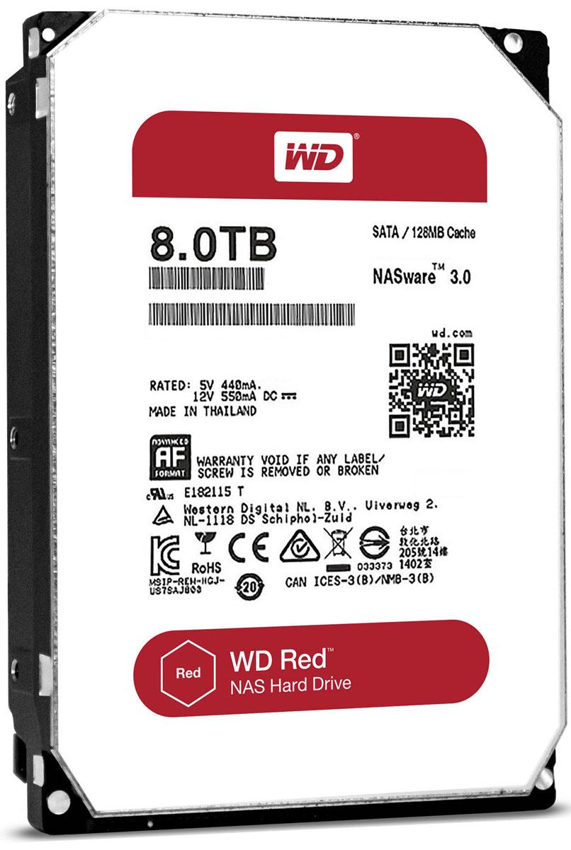 WD Red 8TB внутренний жесткий диск (WD80EFZX)WD80EFZXЧтобы быстро и удобно транслировать медиафайлы, создавать резервные копии данных, хранящихся на ПК, обмениваться файлами и работать с цифровыми материалами, установите в сетевом устройстве хранения накопители WD Red. Удобная интеграция, надежная защита данных и оптимальное быстродействие для систем NAS с высокими требованиями. Транслируйте цифровые материалы, выполняйте их резервное копирование, систематизируйте их и отправляйте на телевизор, ПК и другие устройства. Технология NASware повышает совместимость ваших накопителей с системами NAS, обеспечивая тем более высокое качество воспроизведения цифровых материалов на устройствах. В основе процветания любого бизнеса лежат производительность и эффективность. И именно этими двумя принципами WD руководствовались, разрабатывая накопители Red. Благодаря накопителю WD Red в системах NAS вы сможете предоставлять общий доступ к файлам и выполнять их резервное копирование с той же скоростью, с какой работает ваша...
