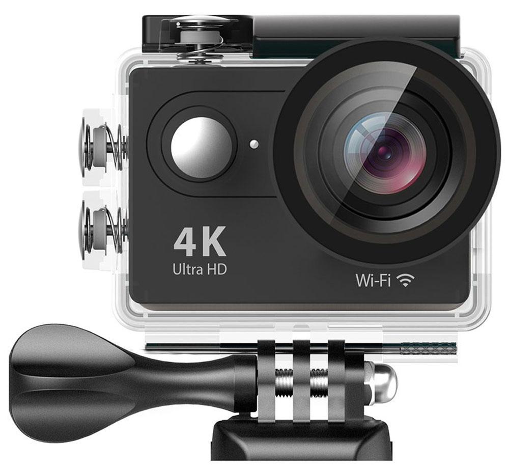 Eken H9 Ultra HD, Black экшн-камераH9_blackЭкшн-камера Eken H9 Ultra HD позволяет записывать видео с разрешением 4К и очень плавным изображением до 30 кадров в секунду. Камера оснащена 2 TFT LCD экраном. Эта модель сделана для любителей спорта на улице, подводного плавания, скейтбординга, скай-дайвинга, скалолазания, бега или охоты. Снимайте с руки, на велосипеде, в машине и где угодно. По сравнению с предыдущими версиями, в Eken H9 Ultra HD вы найдете уменьшенные размеры корпуса, увеличенный до 2-х дюймов экран, невероятную оптику и фантастическое разрешение изображения при съемке 30 кадров в секунду! Управляйте вашей H9 на своем смартфоне или планшете. Приложение Ez iCam App позволяет работать с браузером и наблюдать все то, что видит ваша камера.