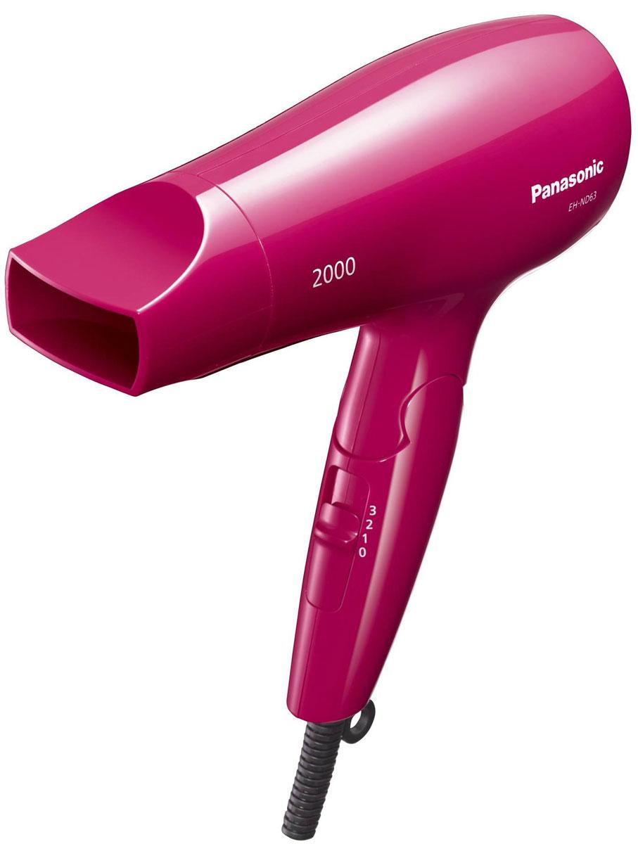 Panasonic EH-ND63-P865 фенEH-ND63-P865Если вам нужно быстро высушить волосы, фен Panasonic EH-ND63-P865 отлично справится с этой работой. Мощный поток горячего воздуха распределяет тепло по всей длине волос, от корней до самых кончиков. Это позволит сэкономить драгоценное утреннее время. Сочетание большой мощности в 2000 Вт с новой конструкцией устройства направления воздушного потока повышает производительность при сушке. Эргономичная форма и хорошая балансировка по весу обеспечивают надежное удержание Panasonic EH-ND63- P865 в руке. Поскольку этот фен легко держать в руке, им можно пользоваться, не уставая, длительное время. Благодаря компактной складной конструкции фен занимает мало места, что удобно при редком использовании, а также в поездках.