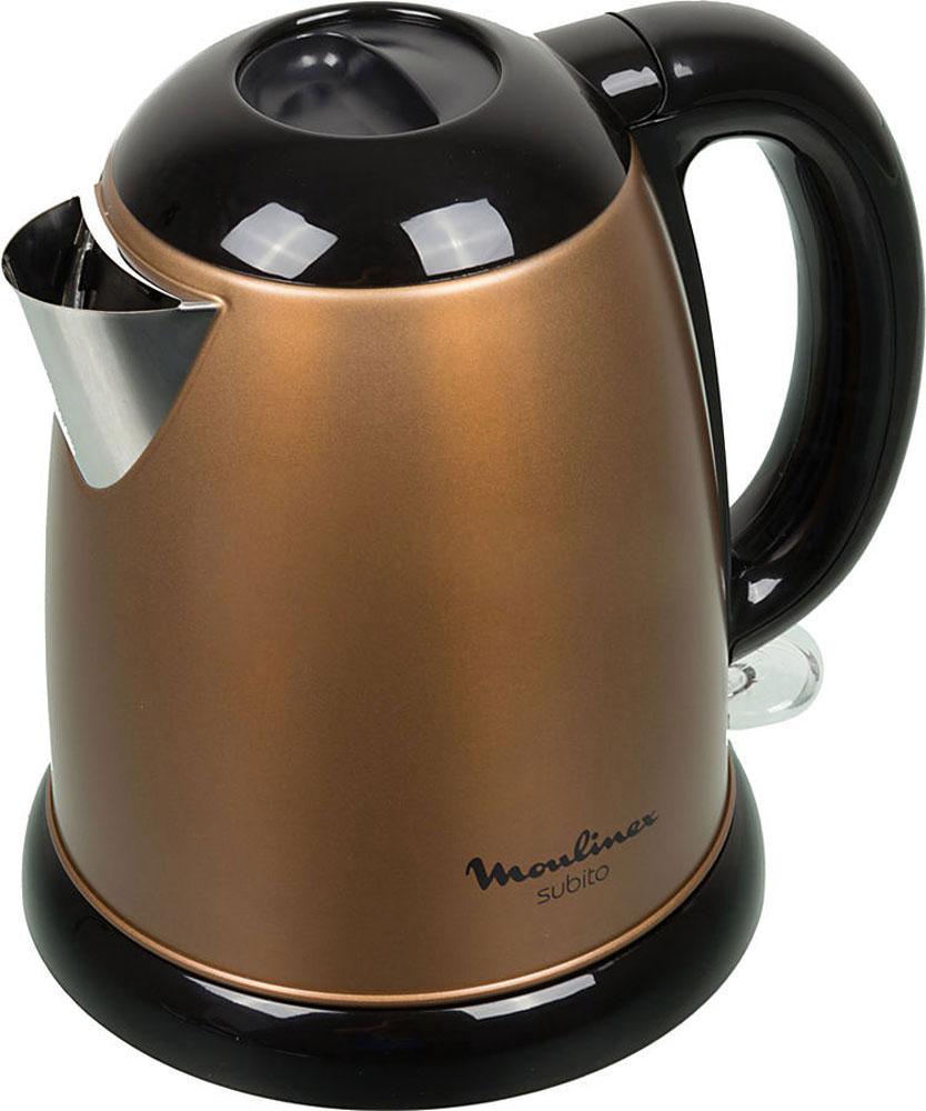 Moulinex BY540F30 электрический чайникBY540F30Электрический чайник Moulinex BY540F30 прост в управлении и долговечен в использовании. Изготовлен из высококачественных материалов. Прозрачное окошко позволяет определить уровень воды. Мощность 2400 Вт способна вскипятить 1,7 литра воды в считанные минуты. Беспроводное соединение обеспечивает вращение чайника на подставке на 360°. Для безопасности при повседневном использовании предусмотрена функция автовыключения.