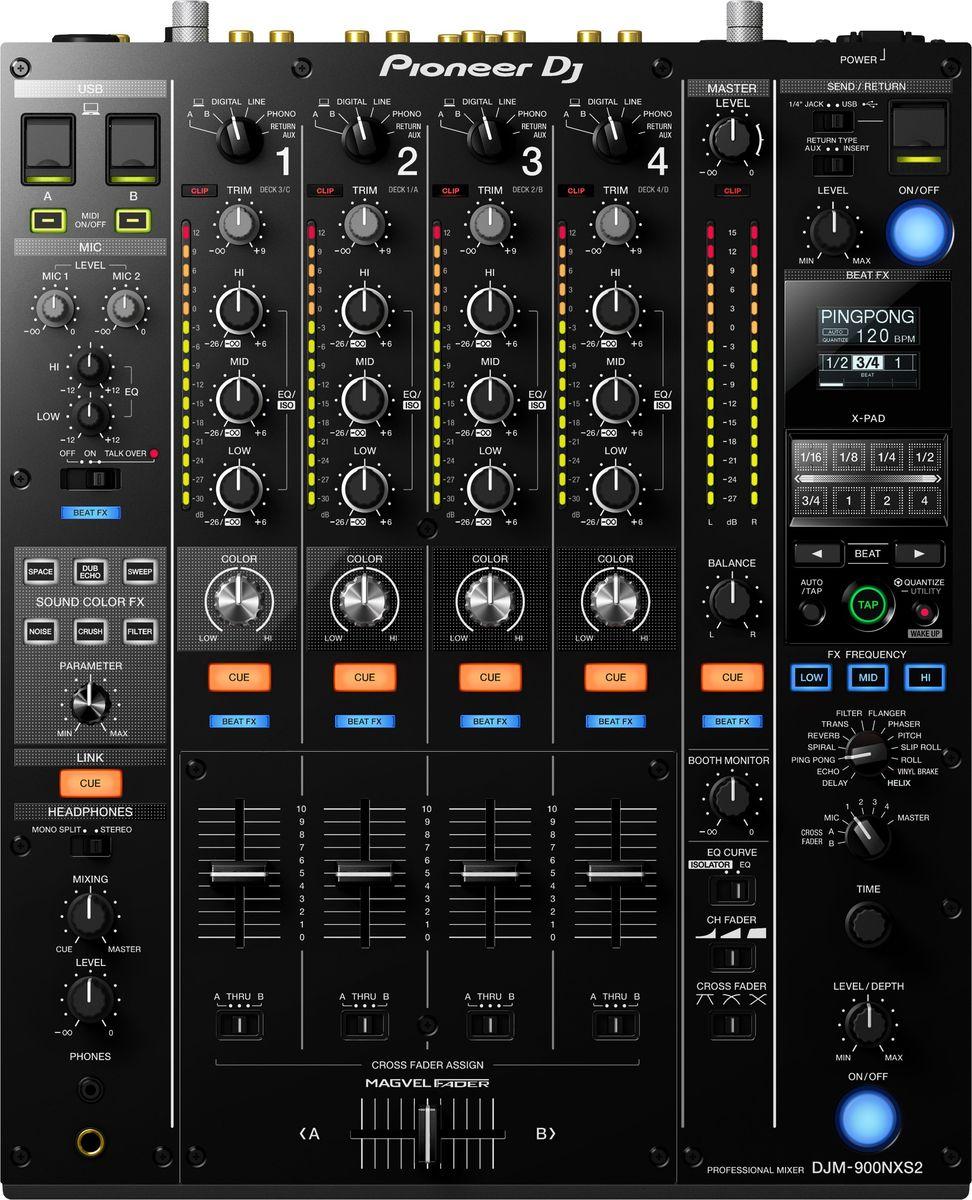 Pioneer DJM-900NXS2 микшерный пульт для профессиональных диджеев