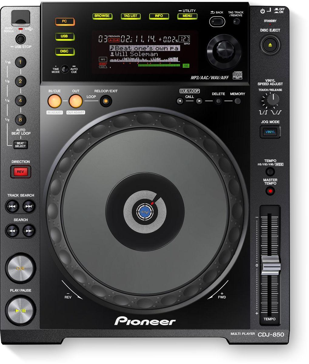 Pioneer CDJ-850-K DJ проигрыватель375310DJ-проигрыватель Pioneer CDJ-850-K с полноразмерным джогом выполнен в стильном черном цвете и идеально впишется в любой интерьер. Вы можете работать с CD, USB или напрямую с PC или Mac. Устройство имеет полноценный профессиональный джог диаметром 206 мм, который является индустриальным стандартом, и большой дисплей. USB HID интерфейс позволяет использовать плеер как контроллер для компьютерных программ. CDJ-850-K поддерживает файлы MP3, AAC, AIFF и WAV. Pioneer CDJ-850-K поставляется вместе с программой управления музыкальной библиотекой rekordbox. Программа анализирует BPM и позиции битов в треках, находящихся на компьютере, позволяя диджеям упорядочить музыку по жанрам, а также создавать плейлисты перед выступлением. Более того, треки и плейлисты можно легко перенести на компьютер через USB. Вы сможете редактировать свои плейлисты и непосредственно во время выступления. Функция Auto Beat Loop для идеальных петель: при нажатии кнопки...