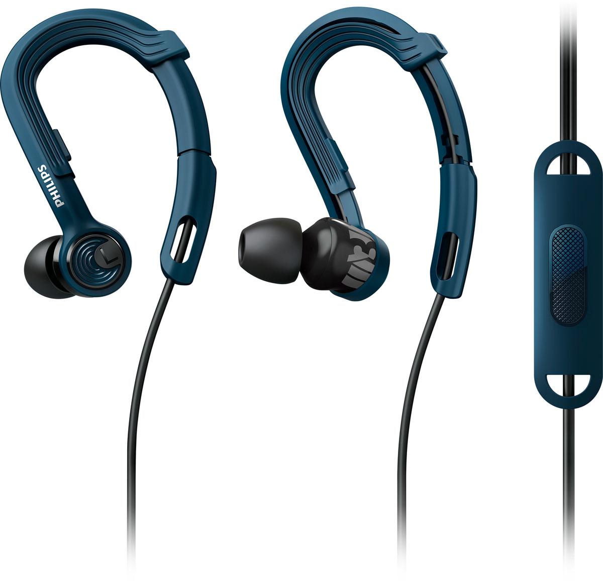 Philips SHQ3405BL/00 наушникиSHQ3405BL/00Наушники Philips SHQ3405BL/00 помогут сконцентрироваться и сохранить мотивацию при выполнении самых трудных задач. Благодаря регулировке крепления-крючка, легкому весу и защите от пота вы можете наслаждаться великолепным звучанием музыки во время интенсивных тренировок. Наушники ActionFit с запатентованным регулируемым заушным креплением обеспечивают надежную посадку и комфорт. Просто поместите крючки за уши и сдвиньте регулируемое крепление вверх или вниз для комфортной посадки. Теперь вы готовы к покорению любых высот и препятствий - наушники останутся на месте, чем бы вы ни занимались. Конструкция наушников ActionFit разрабатывалась для гарантии прочности и надежности. Кевларовый кабель хорошо защищен от износа и поломок и рассчитан на использование в жестких условиях во время тренировок. 8,6-мм излучатели обеспечивают великолепное звучание, которое помогает достичь превосходных результатов. Наушники-вкладыши обеспечивают плотное...