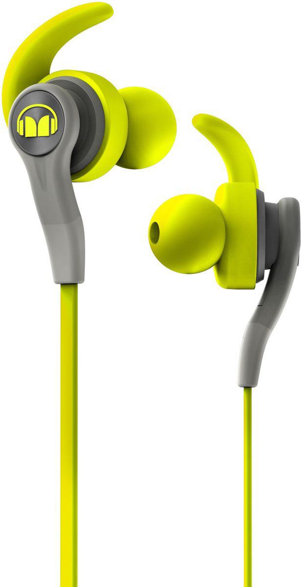 Monster iSport Compete In-Ear, Green наушники137084-00Хотите выжать максимум из своих спортивных наушников? Тогда Monster iSport Compete In-Ear для вас! Запатентованные технологии Monster делают эти наушники лидером среди спортивных моделей. Технология Pure Monster Sound обеспечивает чистый и мощный звук, а сменные насадки - абсолютный комфорт при длительном ношении. Добавьте к этому высокую звукоизоляцию, защитное покрытие от воздействия пота и прочную конструкцию. Теперь у вас есть все для интенсивной тренировки!
