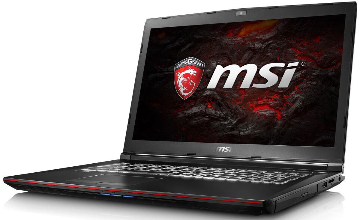 MSI GP72 7QF-1002XRU Leopard Pro, BlackGP72 7QF-1002XRUMSI GP72 7QF - это мощный ноутбук, который адаптирован для современных игровых приложений. В модели гармонично сочетаются агрессивный дизайн, отличная производительность и продуманная эргономика. Седьмое поколение процессоров Intel Core серии H обрело более энергоэффективную архитектуру, продвинутые технологии обработки данных и оптимизированную схемотехнику. Вы сможете достичь максимально возможной производительности вашего ноутбука благодаря поддержке оперативной памяти DDR4-2400, отличающейся скоростью чтения более 32Гбайт/с и скоростью записи 36Гбайт/с. Возросшая на 40% производительность стандарта DDR4-2400 (по сравнению с предыдущим поколением, DDR3- 1600) поднимет ваши впечатления от современных и будущих игровых шедевров на совершенно новый уровень. Эксклюзивная технология MSI SHIFT выводит систему на экстремальные режимы работы, одновременно снижая шум и температуру до минимально возможного уровня. Переключаясь между пятью...