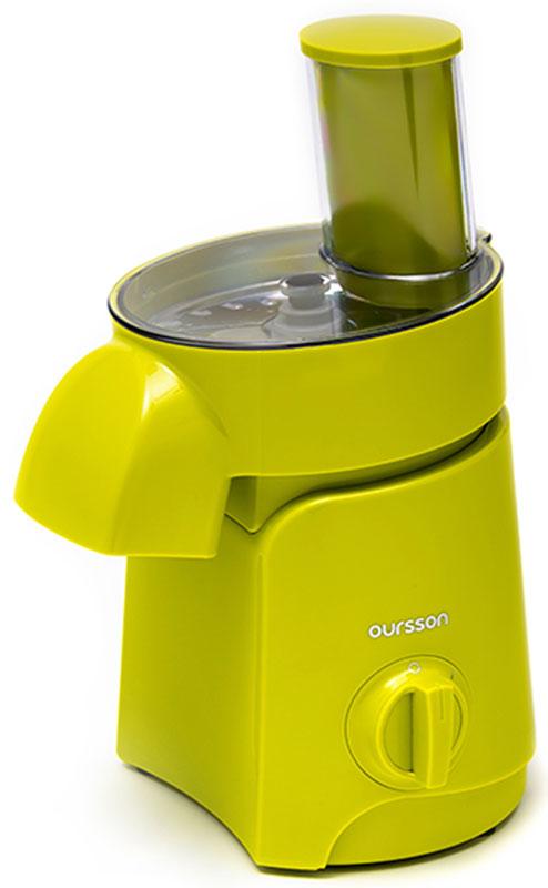 Oursson MS2060/GA мультирезкаMS2060/GAНашинковать или натереть овощи и фрукты на терке, нарезать мясные деликатесы - все это и многое другое теперь быстро, легко и просто вместе с мультирезкой MS2060 от компании Oursson. Мультирезка - это идеальный и незаменимый помощник на каждой кухне, который нарежет и измельчит продукты в считанные секунды. Прибор оснащен шестью насадками: двумя дисками для шинковки ломтиками различной толщины, двумя терками – мелкой и крупной, двумя дисками для нарезки соломкой - мелкой и крупной. Мультирезка поможет быстро нарезать салат соломкой, измельчить овощи, потереть фрукты, нашинковать капусту, лук, морковку, перец и другие овощи.