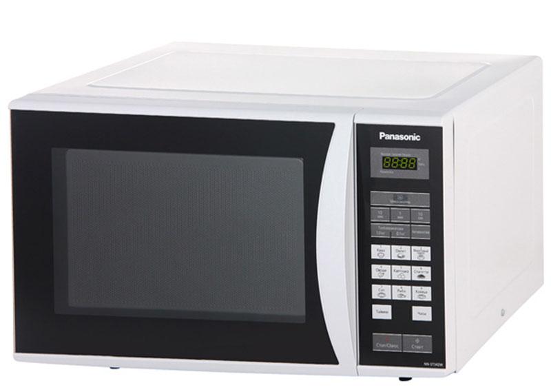 Panasonic NN-ST342WZTE микроволновая печьNN-ST342WZTEПростая и надежная в обращении новая микроволновая печь Panasonic NN-ST342WZTE с сенсорным управлением поможет вам сэкономить ваше драгоценное время. Она быстро разогреет любое блюдо или разморозит необходимый продукт. Экологически чистый материал корпуса и рабочей камеры - эмалированная сталь, гарантирует полезность ваших блюд, а белый цвет корпуса украсит любую кухню. Диаметр поддона: 28,5 см