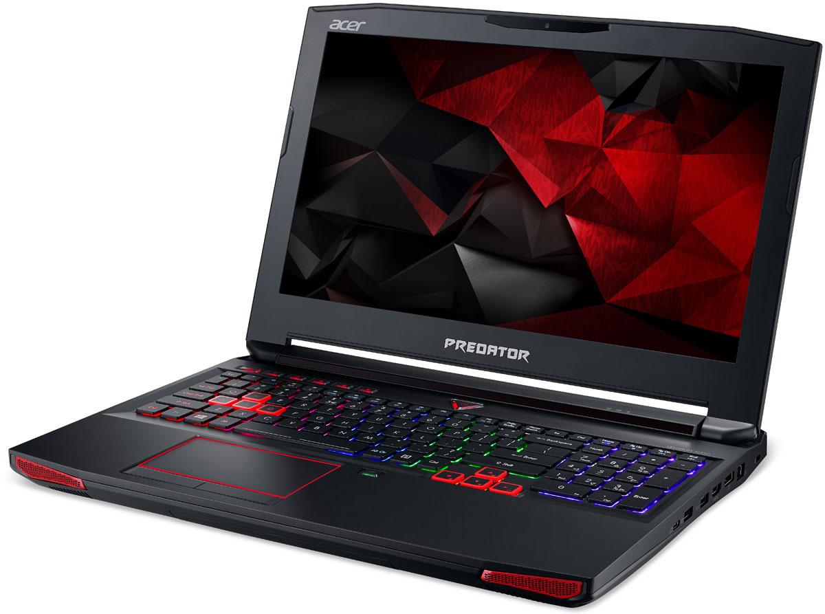 Acer New Predator G9-593-74CT, BlackG9-593-74CTРаскройте весь свой потенциал благодаря ноутбуку Acer New Predator G9-593-74CT с производительностью игрового настольного компьютера.Легко обжечься в пылу настоящей битвы. Сохраняйте хладнокровие благодаря усовершенствованной технологии охлаждения. Cooler Master поможет снизить температуру и повысить производительность. А решение Predator FrostCore пригодится вам во время жарких игровых баталий.Отсутствие задержек при подключении зачастую решает исход сетевых поединков. Управляйте подключением к интернету с помощью технологии Killer DoubleShot Pro.Благодаря программе PredatorSense в вашем распоряжении окажутся расширенные настройки для создания уникальной игровой атмосферы.Predator Dust Defender помогает содержать железо в чистоте и порядке. Изменение направления воздушного потока защитит от скопления пыли и гарантирует бесперебойную работу важных компонентов.PredatorSense предоставляет доступ к таким игровым функциям, как профили макросов клавиатуры, позволяющие переключаться между игровой конфигурацией и регулировать подсветку.Клавиатура Predator ProZone RGB имеет настраиваемые области подсветки, для которых можно выбрать любые из 16 миллионов доступных цветов, и программируемые макропрофили, которыми можно обмениваться с другими пользователями. Дополнительная цифровая клавиатура и специальные кнопки для макросов обеспечивают необходимый контроль.Предметом гордости Predator является звуковая система SoundPound 2.1 с 2 динамиками и сабвуфером и технологией Dolby AudioTM для глубокого звучания.Точные характеристики зависят от модели.Ноутбук сертифицирован EAC и имеет русифицированную клавиатуру и Руководство пользователя.