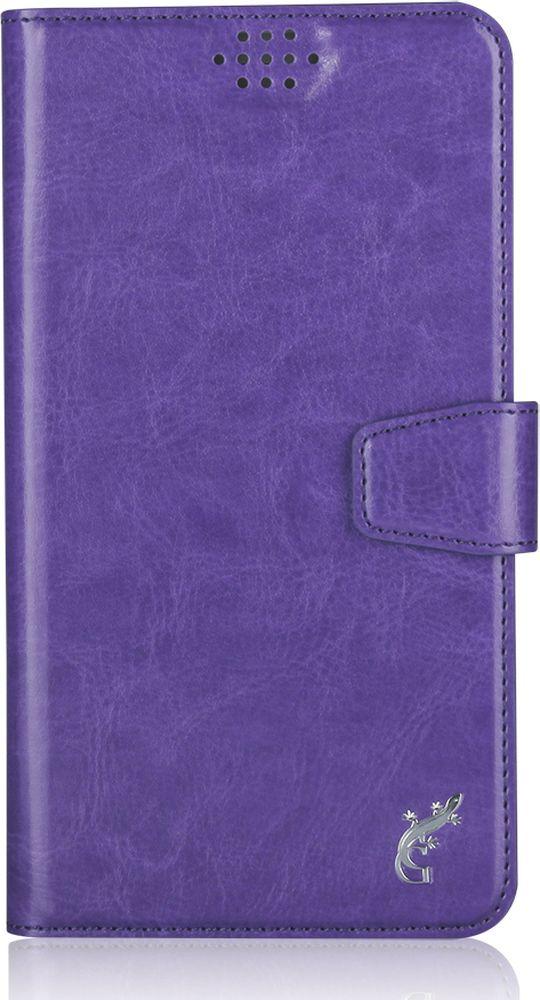 G-Case Slim Premium универсальный чехол для смартфонов 5-5,5, PurpleGG-787Стильный универсальный чехол-книжка G-Case Slim Premium подходит для смартфонов с диагональю от 5 до 5,5 дюймов. Выполнен из высококачественных материалов и служит для защиты корпуса и экрана от царапин, пыли и падений. Чехол надежно фиксирует устройство. Имеет свободный доступ ко всем разъемам и камере устройства.