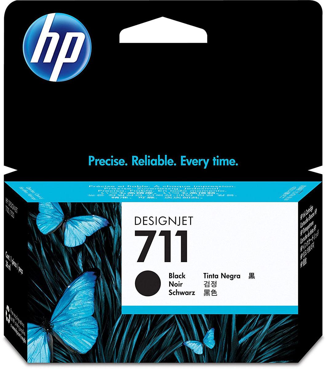 HP CZ129A (711), Black картридж для DesignJet T120/T520CZ129AКартридж HP 711 емкостью 38 мл с черными чернилами обеспечивает великолепную печать. Четкие линии в сочетании с быстрым высыханием и стойкостью фотографий к смазыванию. Оригинальные чернила HP разработаны и протестированы вместе с принтерами для обеспечения стабильных результатов.Пробы и ошибки отнимают время. Для получения качества, достойного вас, используйте оригинальные расходные материалы HP, которые в сочетании с принтером работают как оптимизированная система печати для обеспечения точных линий, четких деталей и богатой цветовой гаммы.Представьте, какое влияние вы сможете оказать на своих слушателей, если в вашем арсенале будут четкие и легкочитаемые чертежи и цветные презентации. Оригинальные чернила HP — это уникальная комбинация качества и надежности; чернила HP — это четкость линий, быстрое высыхание и стойкость к смазыванию.