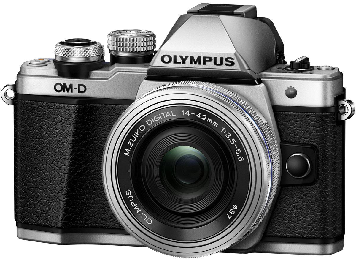 Olympus OM-D E-M10 Mark II Kit 14-42 EZ, Silver цифровая фотокамераV207052SE000Olympus OM-D E-M10 Mark II - компактная, легкая и эргономичная камера, которая способна удовлетворить все ваши потребности, куда бы вы ни отправились. Несмотря на цельнометаллический корпус E-M10 Mark II весит всего 390 г, так что она никогда не станет вам помехой. Великолепный классический дизайн и самые передовые технологии для получения отличных снимков.Идеальное качество снимков в условиях плохого освещения и в движении. Ваши снимки будут ясными и четкими в любой ситуации благодаря примененной в E-M10 Mark II мощной технологии 5-осевой стабилизации изображения (IS). Где бы вы ни оказались вы всегда получите великолепные, качественные, четкие снимки. 5-осевой стабилизатор изображения встроен в корпус для более эффективной работы и уменьшения веса камеры.С E-M10 Mark II публиковать фотографии стало просто как никогда. Передайте фотографии на свой смартфон с помощью приложения OLYMPUS Image Share (OI.Share) и легко поделитесь ими со своими друзьями и семьей. С помощью встроенного Wi-Fi модуля вы можете удаленно управлять широким рядом настроек камеры, например, при съемке со штатива, когда без удаленного спуска затвора не обойтись, или когда у вас нет возможности дотянуться до камеры, или при съемке в экстремальных условиях.Широкий ряд высококачественных объективов с отличными оптическими элементами отлично дополнит как внешний вид, так и технические возможности вашей камеры E-M10 Mark II. Используйте любые типы объективов от макро и телеобъективов до широкоугольных объективов и объективов типа рыбий глаз.Фотоаппарат награждён престижной премией Продукт года. Он гарантирует высочайшее качество снимков, скорость фокусировки E-M5 и мощность флагмана E-M1, причем эти уникальные возможности заключены в компактном и элегантном металлическом корпусе.Тип сенсора: 4/3 МОП (MOS) - сенсор реального изображенияФормат изображения: 4:3 / 3:2 / 16:9 / 6:6 / 3:4Процессор: TruePic VIIЗащита от пыли: Уль