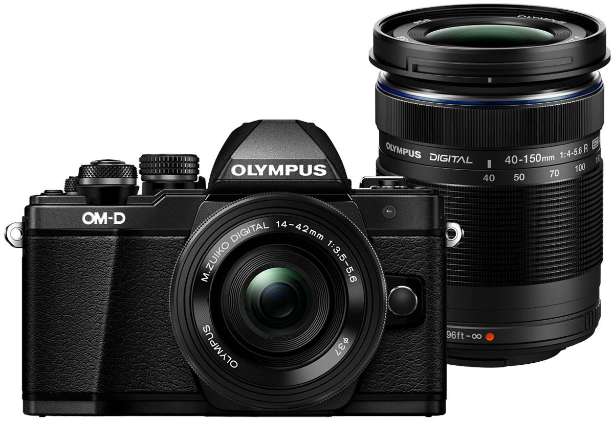 Olympus OM-D E-M10 Mark II Kit 14-42 EZ + 40-150 R, Black цифровая фотокамераV207053BE000Olympus OM-D E-M10 Mark II - компактная, легкая и эргономичная камера, которая способна удовлетворить все ваши потребности, куда бы вы ни отправились. Несмотря на цельнометаллический корпус E-M10 Mark II весит всего 390 г, так что она никогда не станет вам помехой. Великолепный классический дизайн и самые передовые технологии для получения отличных снимков.Идеальное качество снимков в условиях плохого освещения и в движении. Ваши снимки будут ясными и четкими в любой ситуации благодаря примененной в E-M10 Mark II мощной технологии 5-осевой стабилизации изображения (IS). Где бы вы ни оказались вы всегда получите великолепные, качественные, четкие снимки. 5-осевой стабилизатор изображения встроен в корпус для более эффективной работы и уменьшения веса камеры.С E-M10 Mark II публиковать фотографии стало просто как никогда. Передайте фотографии на свой смартфон с помощью приложения OLYMPUS Image Share (OI.Share) и легко поделитесь ими со своими друзьями и семьей. С помощью встроенного Wi-Fi модуля вы можете удаленно управлять широким рядом настроек камеры, например, при съемке со штатива, когда без удаленного спуска затвора не обойтись, или когда у вас нет возможности дотянуться до камеры, или при съемке в экстремальных условиях.Широкий ряд высококачественных объективов с отличными оптическими элементами отлично дополнит как внешний вид, так и технические возможности вашей камеры E-M10 Mark II. Используйте любые типы объективов от макро и телеобъективов до широкоугольных объективов и объективов типа рыбий глаз.Фотоаппарат награждён престижной премией Продукт года. Он гарантирует высочайшее качество снимков, скорость фокусировки E-M5 и мощность флагмана E-M1, причем эти уникальные возможности заключены в компактном и элегантном металлическом корпусе.Тип сенсора: 4/3 МОП (MOS) - сенсор реального изображенияФормат изображения: 4:3 / 3:2 / 16:9 / 6:6 / 3:4Процессор: TruePic VIIЗащита от