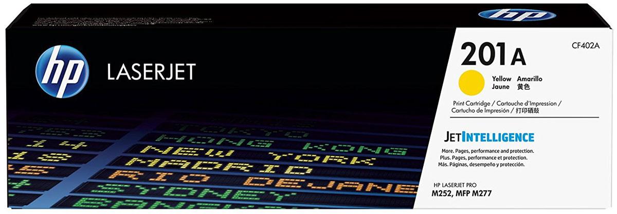 HP CF402A (201A), Yellow тонер-картридж для Color LaserJet Pro M252/M274/M277CF402AОригинальные лазерные картриджи HP 201A с технологией JetIntelligence оснащены инновационными средствами проверки и отличаются потрясающей производительностью при высокой скорости работы. Будьте уверены, что извлекаете максимум выгоды из каждого картриджа. Оригинальные лазерные картриджи HP LaserJet с технологией JetIntelligence гарантируют точное отслеживание уровня расхода тонера. Количество высококачественных документов, которые вы сможете напечатать, превзойдет все ожидания. Тонер ColorSphere 3 был специально разработан для повышения производительности принтера. Низкая температура плавления гарантирует профессиональное качество печати. Все оригинальные лазерные картриджи HP LaserJet с поддержкой JetIntelligence оснащены эксклюзивной технологией HP по борьбе с поддельной продукцией. При установке картриджа в принтер его подлинность проверяется автоматически.