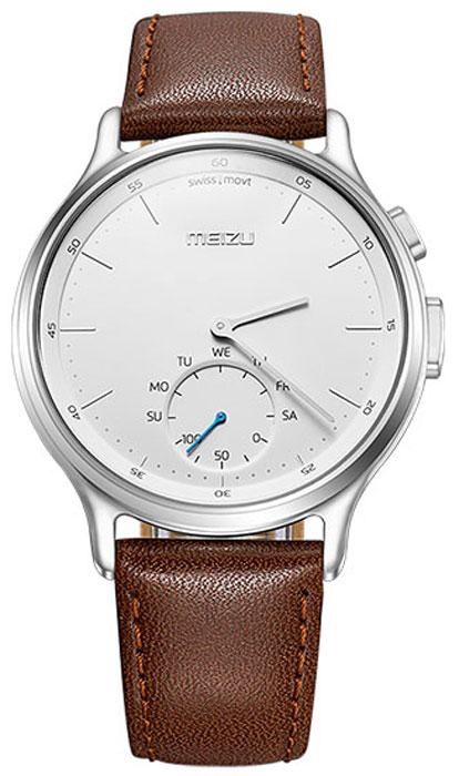 Meizu Mix Leather, Silver Brown смарт-часыMZWA1S-L-SLЛёгкие умные часы с кварцевым механизмом Meizu Mix и ремешком из крупно-зернистой итальянской кожи. Корпус, циферблат и стрелки умных кварцевых часов Meizu Mix изготовлены из ювелирной стали. Она устойчива к коррозии, высоким температурам и износу. Прекрасная комбинация надёжных материалов и утончённого дизайна. Элегантное сапфировое стекло. Твёрдость сапфирового стекла равна 9 и уступает лишь алмазу. Такое стекло выдерживает царапины, удары и высокие температуры. Вы не будете разочарованы. В умных часах Meizu Mix установлен швейцарский часовой механизм, известный благодаря своей долгой истории и мастерству изготовления. В часах сочетаются функциональность умных часов и продолжительный срок службы с традиционной точностью и надёжностью. Легкие умные часы Meizu плотно сидят на запястье. Теперь вы больше не пропустите входящий звонок, SMS или сообщение в мессенджере. В часах возможно настроить будильник и напоминания. ...