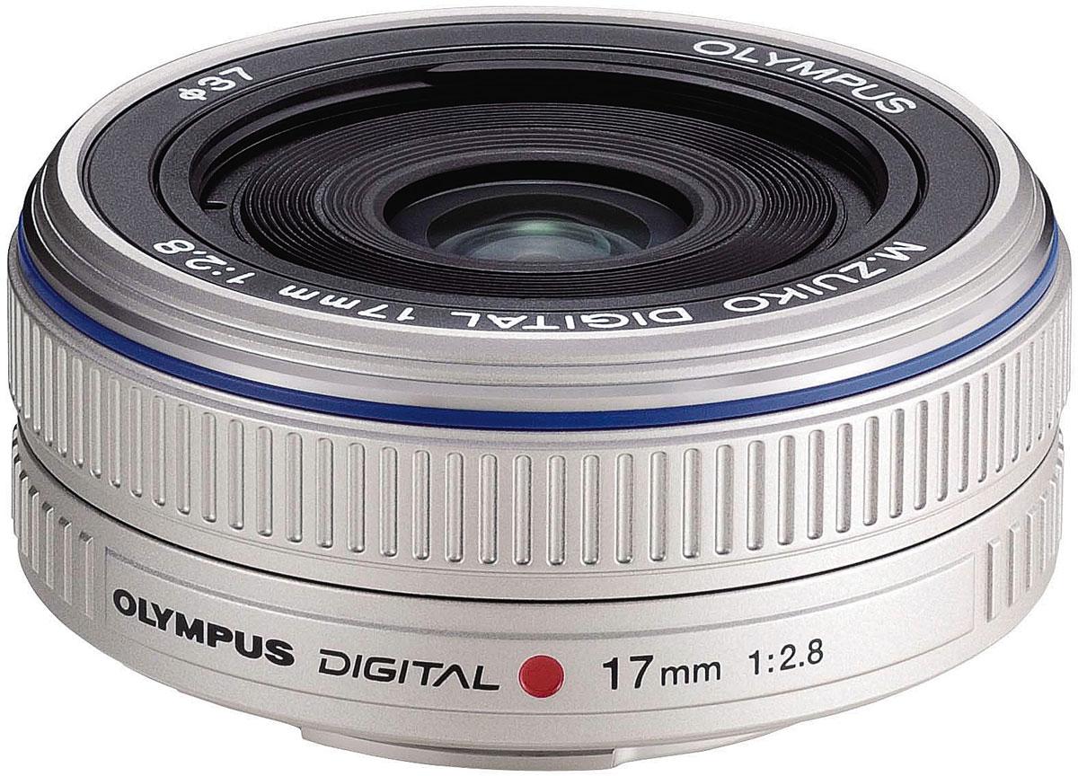 Olympus M.Zuiko Digital 17mm 1:2.8 Pancake, Silver объектив