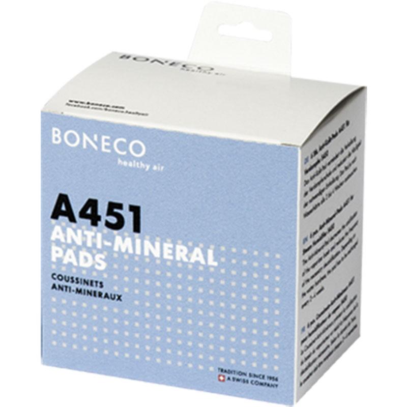 Boneco A451 Calc Pad Boneco AOS противоизвестковый диск для увлажнителя воздуха S450, 6 штA451 Calc Pad Boneco AOSПротивоизвестковый диск Boneco A451 для защиты паровых увлажнителей Boneco S450, S250 от накипи. Принцип его работы — это снижение образования известкового налета в испарительном отсеке, что способствует снижению частоты ухода за прибором. Диск рекомендуется менять каждые 3-4 недели в зависимости от жесткости воды.