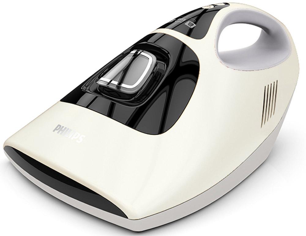Philips FC6230/02 Mite Cleaner пылесос для удаления пылевого клещаFC6230/02Philips Mite Cleaner легко и эффективно удаляет пыль и пылевого клеща с мягких поверхностей благодаря трем функциям. Кроме того, прибор помогает снизить уровень аллергенов, что идеально подходит для людей, страдающих аллергией. Прибор оснащен УФ-лампой. Благодаря мощному мотору 450 Вт и всасывающему отверстию 8,2 см обеспечивается эффективное удаление грязи и пылевого клеща с мягких поверхностей, а также сокращение количества аллергенов в доме. Эффективное и безопасное удаление грязи и пылевого клеща с кроватей, диванов, мягких игрушек, подушек и других мягких предметов - чтобы страдающим аллергией людям было комфортно находиться дома. Фильтр EPA 12 удерживает 99,5 % мелкой пыли, фильтруя выходящий воздух. Благодаря этому вся грязь остается в пылесборнике и повторного выброса загрязняющих веществ не происходит. Три мощные вибрирующие насадки для удаления загрязнений вибрируют с высокой частотой (3600 об/мин) для эффективного...